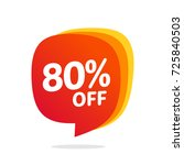 80 discount  sales vector... | Shutterstock .eps vector #725840503