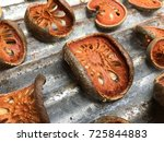 dry bael fruit   slices of dry... | Shutterstock . vector #725844883
