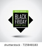 black friday sale banner in... | Shutterstock .eps vector #725848183