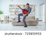 businessman celebrating going... | Shutterstock . vector #725855953