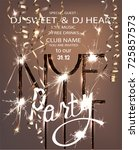 new year eve party invitation... | Shutterstock .eps vector #725857573