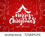 vector illustration  merry... | Shutterstock .eps vector #725859193