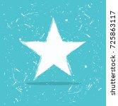 star in grunge design for web