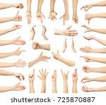 multiple images set of female... | Shutterstock . vector #725870887