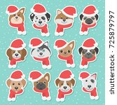christmas illustration set with ...   Shutterstock .eps vector #725879797