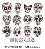 dias de los muertos   day of... | Shutterstock .eps vector #725882173