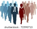 business teams as competitors...   Shutterstock . vector #72590713