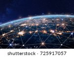 global world telecommunication... | Shutterstock . vector #725917057