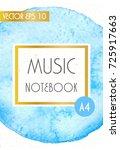 music cover design template ... | Shutterstock .eps vector #725917663