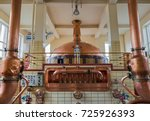 vintage copper kettle in... | Shutterstock . vector #725926393