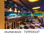 discotheque interior with... | Shutterstock . vector #725933137