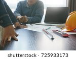 architects and engineer... | Shutterstock . vector #725933173