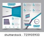 blue and purple flyer design... | Shutterstock .eps vector #725935933