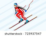 alpine skiing downhill athlete
