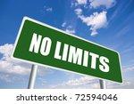 no limits road sign | Shutterstock . vector #72594046