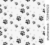 cat paw dog paw kitten vector... | Shutterstock .eps vector #725940523