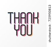 thank you  colorful design ... | Shutterstock .eps vector #725950813
