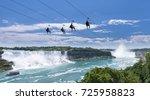 zipline ride at niagara falls... | Shutterstock . vector #725958823