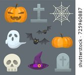 halloween icon collection | Shutterstock .eps vector #725960887