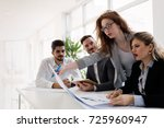 group of architects working... | Shutterstock . vector #725960947