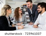 group of architects working... | Shutterstock . vector #725961037