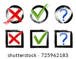 question mark  symbolic x and... | Shutterstock .eps vector #725962183