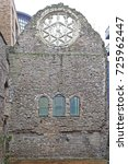Small photo of LONDON, UNITED KINGDOM - JANUARY 19, 2013: Winchester Palace Ruins of Winchester Palace and Rose Window at Southwark in London, United Kingdom.