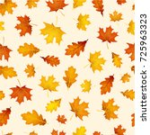 autumn background with golden... | Shutterstock .eps vector #725963323