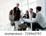 group of architects working... | Shutterstock . vector #725963797