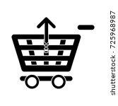 upload shopping cart icon | Shutterstock .eps vector #725968987