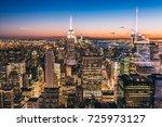 new york city with skyscrapers...   Shutterstock . vector #725973127