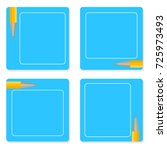 paper note set with pencils....   Shutterstock .eps vector #725973493
