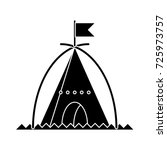 tent triangle icon | Shutterstock .eps vector #725973757