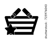 star shopping basket icon | Shutterstock .eps vector #725976043