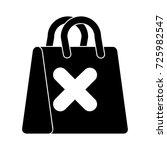 delete shopping bag flat icon