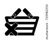 remove shopping basket icon | Shutterstock .eps vector #725982553