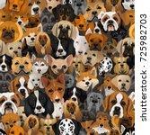 vector dogs different breeds... | Shutterstock .eps vector #725982703