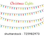 colorful christmas lights ... | Shutterstock .eps vector #725982973