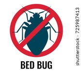 anti bed bug emblem white on... | Shutterstock .eps vector #725987413
