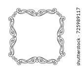 decorative vintage frame ... | Shutterstock .eps vector #725989117