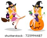 halloween  cute cartoon... | Shutterstock .eps vector #725994487