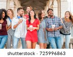 group of diverse culture... | Shutterstock . vector #725996863