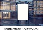 mock up of blank white vertical ... | Shutterstock . vector #725997097