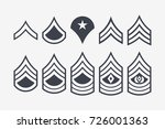 military ranks stripes and...   Shutterstock .eps vector #726001363