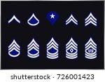 military ranks stripes and... | Shutterstock .eps vector #726001423