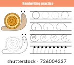 handwriting practice sheet.... | Shutterstock .eps vector #726004237