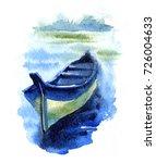 Watercolor Etude Of Fishing...