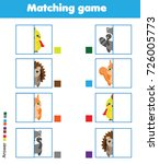 matching children educational... | Shutterstock .eps vector #726005773