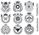 luxury heraldic vectors emblem... | Shutterstock .eps vector #726006253