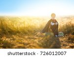 happy child boy dressed as a... | Shutterstock . vector #726012007